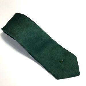 Christian Dior Dark Green Tie 54Lx 3.5W